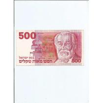Cedula Estrangeira Israel - 500 Sheqalim - Novinha - 40.00