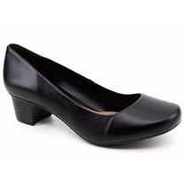 Sapato Scarpin Feminino Couro Código Cem 69-3761 Loja Pixolé