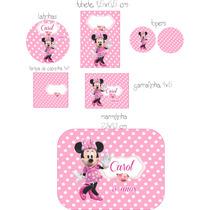 Minnie Rosa Rótulos Adesivos Personalizados Para Festas