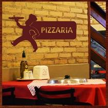 Quadro Escultura Em Mdf Vazada Para Decoração De Pizzaria
