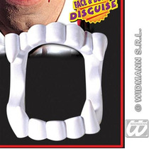 Traje Do Vampiro Drácula - Falso Dentes Brancos Fangs Extra