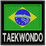 Bordado Termocolante - Bandeira Brasil Taekwondo Fp 8x7,5cm