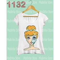 Princesa Anna Frozen Caveira Linda Camiseta Tshirt Feminina