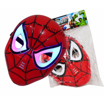 Máscara Homem Aranha Spider Man Com Leds Infantil
