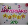 Festa Aniversário Kit 50 Peças Letras + Enfeites Person Eva