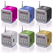 Mini Caixa De Som C/ Display Toca Som Mp3 Rádio Fm Pendrive