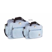 Kit Bolsa Maternidade Azul Marrom Infant Bolsa Frasqueira Mb