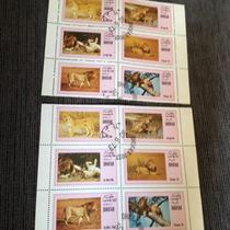 Selos Bloco 6 Dams - Dhufar - Fauna Felinos Leões (lote 36)