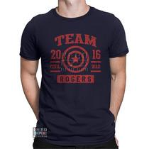 Camisa, Camiseta Capitão America Rogers Civil War Marvel