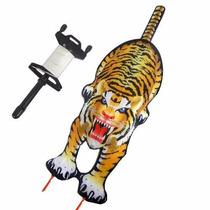 Pipa Arraia De Nylon 3d Tigre Brinquedo Antigo Com Carretel