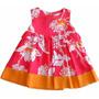 Vestido Floral Para Bebê E Criança