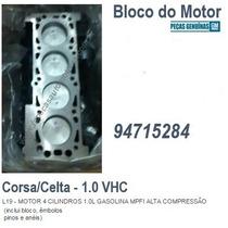 Bloco Motor Parcial Corsa/celta 1.0 Vhc Gas/flex