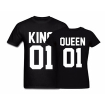Camiseta T-shirt Casal King Queen Rei Rainha Personalizada