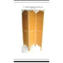 Biombo Arabesco Liso Em Mdf Cru Sem Pintura 3mm