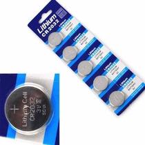Kit 5 Baterias Botão Cr2032 Lithium P/ Controle, Calculadora