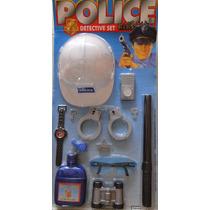 Kit Policial Fantasia Infantil Menino Criança Completo/ 9077