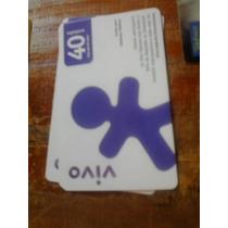 Cartão Raro Da Telefônica 5/13. Tir. 41000. Vivo Roxo