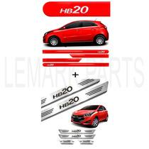 Friso Lateral Hb20 Vermelho Tropic + Soleira Aço Inox ¨