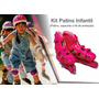 Kit 2 Super Kit Radical Patins Sports Completo + Proteção