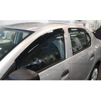 Calha Defletor Chuva Renault Logan 14 A 15 4 Portas Tg Poli#