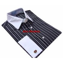 Camisa Masculina Punho Duplo P/ Abotoaduras N.03 ( M )