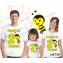 Camiseta Abelhinha Aniversario Festa Kit Com 3 Uni