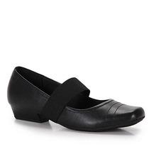 Sapato Boneca Salto Conforto Feminino Usaflex - Preto