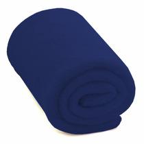 Cobertor Manta Solteiro Em Soft - Adulto - Azul Escuro - Lux