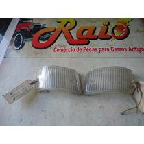 Par De Lente Da Lanterna Dianteira Fiat 147 Original Nova