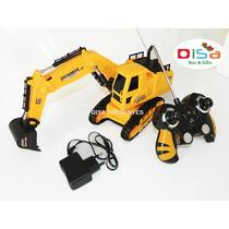 Escavadeira Trator 40 Cm Controle Remoto Com Som 10 Funções
