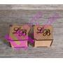 10 Caixas Personalizadas Casamento Iniciais Vazadas Mdf Crú