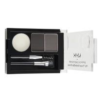 Nyx Eyebrow Cake Powder Kit Duo Sobrancelha Black/gray Ecp01