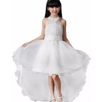 Vestido Infantil Festa, Princesa, Dama, Formatura. Branco 14