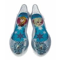 Sapatilha Elsa Frozen Prata Com Glitter - Original Grendene
