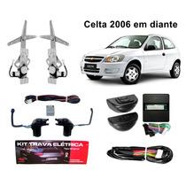 Kit Vidro Elétrico Celta 2 Portas + Trava Específica Celta 2