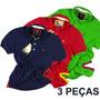 Kit C/ 3 Peças, Camisas Camisetas Polo Originais S&f