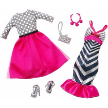 Cartela Roupas Fashion Pack Mattel Fashionista Barbie Festa
