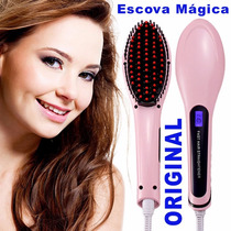 Escova De Cabelos Elétrica Mágica Lcd Fast Hair Straightener