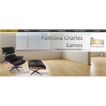 Poltrona Charles Eames Com Puff - Couro Ecológico