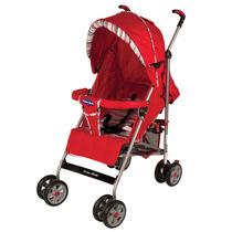 Carrinho De Bebe Prime Baby Premium Listrado 1006-d Vermelho