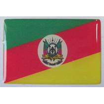 Bandeira Estado Do Rio Grande Do Sul Brasil 6x4cm - Bre