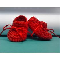 A95 Tenis De Croche Masculino Vermelho Sapatinho De Menino