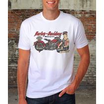 Camiseta Old School Moto Harley Davidson Frete Gratis