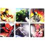 Quadro Heróis Marvel Hulk Homem Ferro Aranha Elektra Surfist