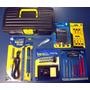 Kit Eletrônica E Solda 9 Itens Chaves Torx Pinças Com Maleta