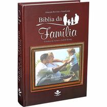 Bíblia Sagrada De Estudo Da Família Porta Retrato Marrom Sbb
