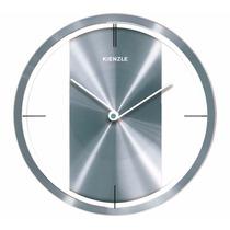 Relógio Parede Cinza Novo 30 Cm Alumínio Diamantado Kienzle
