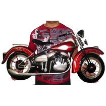 Quadro 3d Moto Harley Davidson Retrô Parede Metal Decoração