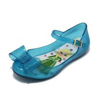 Sapatilhas Frozen Elsa Calçado Sapato Infanto Juvenil Azul