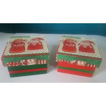 Caixa De Mdf Decorada De Natal - 2unid. - Tam. 5x8x8